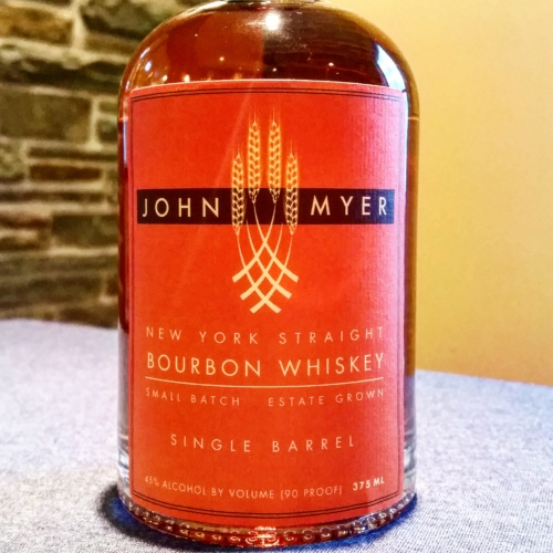 John Myer New York Straight Bourbon Whiskey, Single Barrel